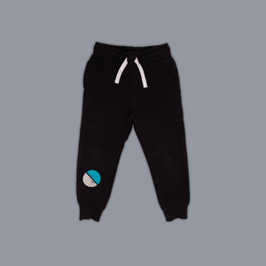 Circle Illusion Jogger Black