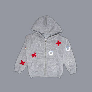 Noughts + Crosses Zippy Grey