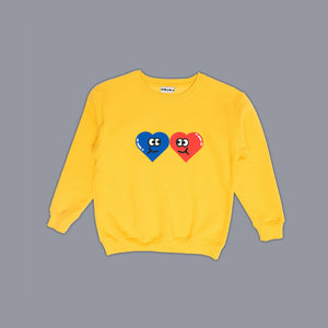 Heart Friends Sweater Yellow