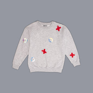 Noughts + Crosses Sweater Grey