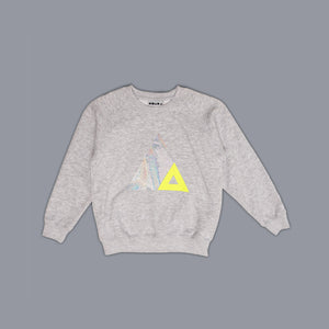 Triangle Illusion Sweater Grey