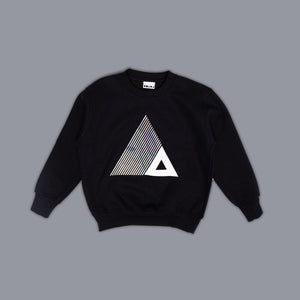 Triangle Illusion Sweater Black