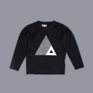 Triangle Illusion Long Sleeved T-Shirt Black