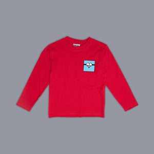 Simon Square Long Sleeved T-Shirt Red