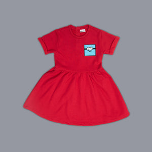 Simon Square Skater Dress Red
