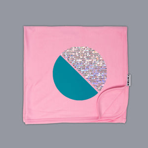 Circle Illusion Blanket Pink