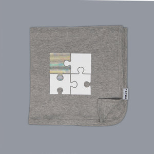 Jigsaw Blanket Grey