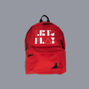 Lets Play Slogan Rucksack Red
