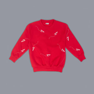 Paper Planes Sweater Red