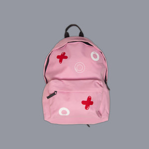 Noughts + Crosses Rucksack Pink