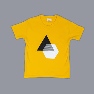 Monochrome Illusion T-Shirt Yellow
