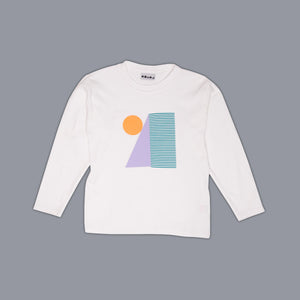 Shapes Block Long Sleeved T-Shirt White