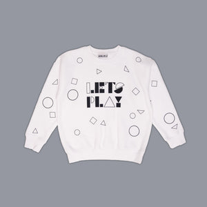 Lets Play Colour In Sweater White