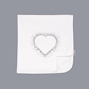 Heart Fade Blanket White