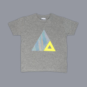 Triangle Illusion T-Shirt Grey