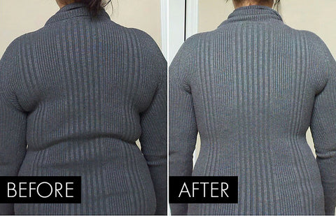 before and after Invisible Wireless Lifting Bra