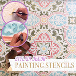 Stylish Decor Painting Stencils (Set of 4)