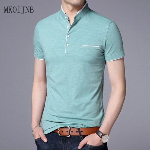 ff494b3adbf Summer 2018 man s T-shirt New Cotton Brand Clothing Solid Color Slim Fit  Short Sleeve