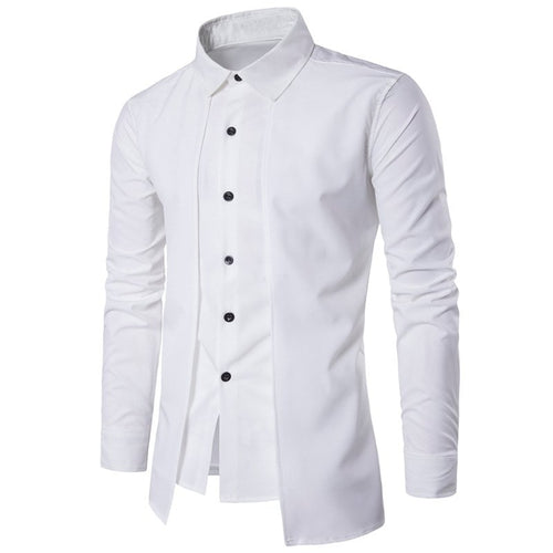 285afce3c50 INCERUN Men s Shirts Formal Business Shirts Men s Slim Fit Dress Shirt Long  Sleeves White Tee Camisa