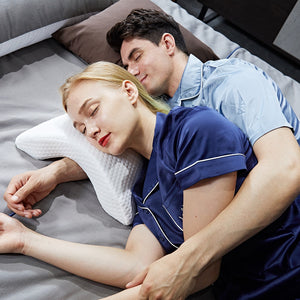 Couple's Cuddle & Sleep Pillow - No More Numb Arms!