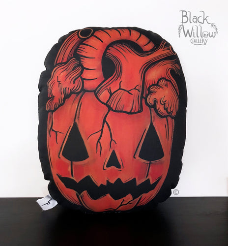 Pumpkin Heart Pillow // only 4 left