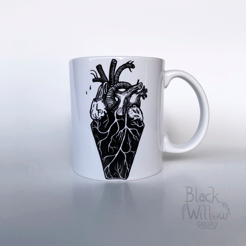 Coffin Heart Ceramic Mug