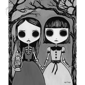 "Creepy Night 8"" x 10"" Art Print"