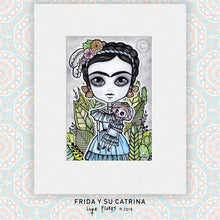 "Load image into Gallery viewer, Las Catrinas 5"" x 7"" Art Mat Print"