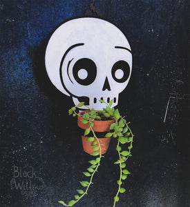 Floating Skull Planter