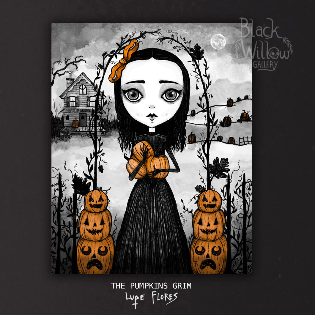 The Pumpkins Grim Art Print