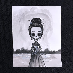 Bone Woman Original Painting by Lupe Flores