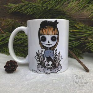 Black Cat Lady Ceramic Mug