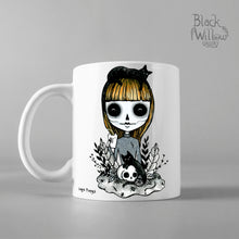 Load image into Gallery viewer, Black Cat Lady Ceramic Mug