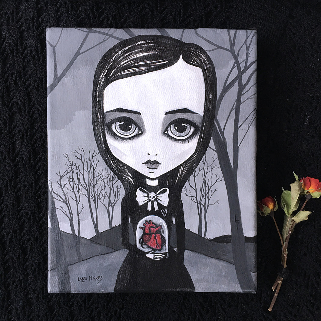 Cursed Heart Original Painting by Lupe Flores