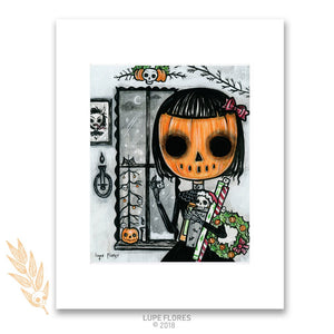 "It's a Merry Halloween 8"" x 10"" Art Mat Print"