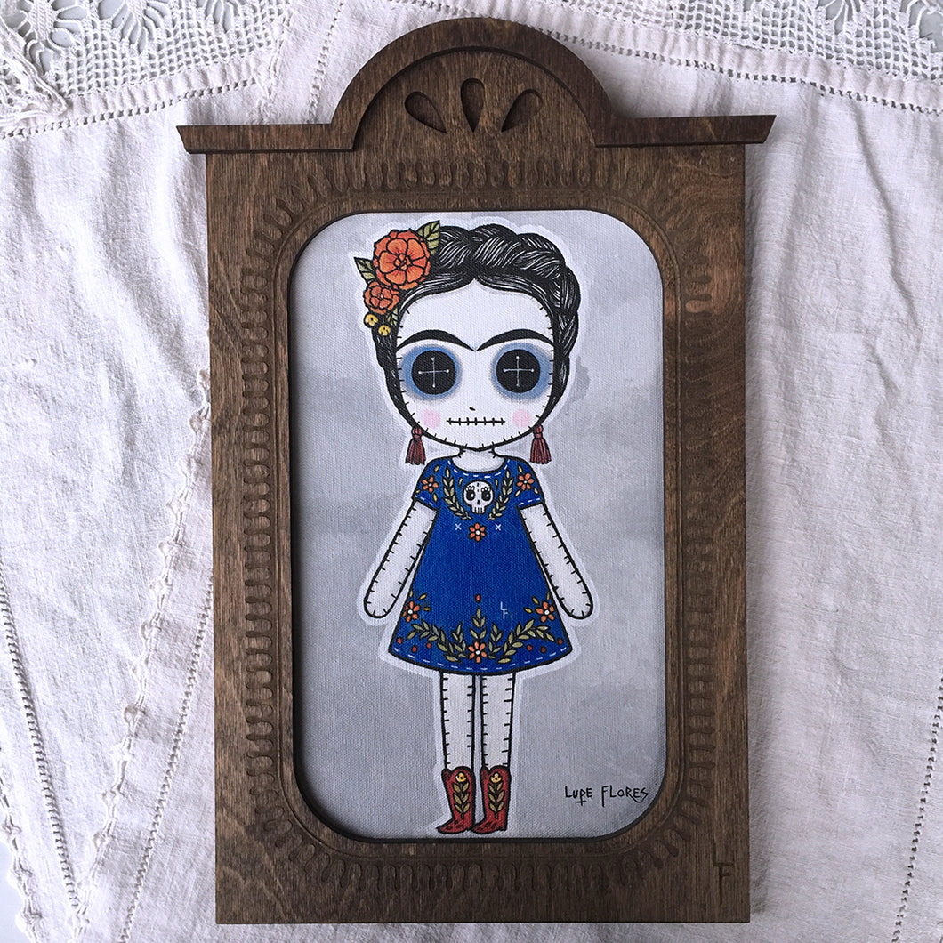 Frida Doll Face Painting by Lupe Flores