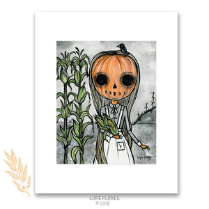 "Pumpkin Child 8"" x 10"" Art Mat Print"