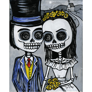 "Just Married 8""x 10"" Art Print"