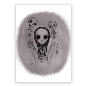 "Not Alone  5"" x 7"" Art Print"