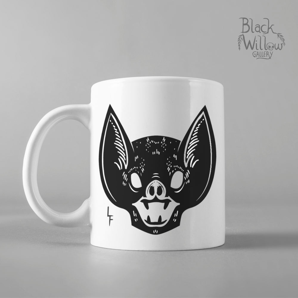 Screaming Bat Ceramic Mug