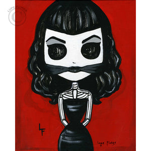 "Bettie Page Tied up 8""x 10"" Art Print"