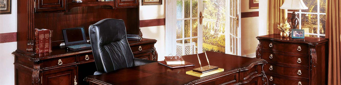 DMI Office Furniture Works Balmoor Series | mahogany office furniture set, Bordeaux Cherry finished office furniture, elegant wooden office furniture