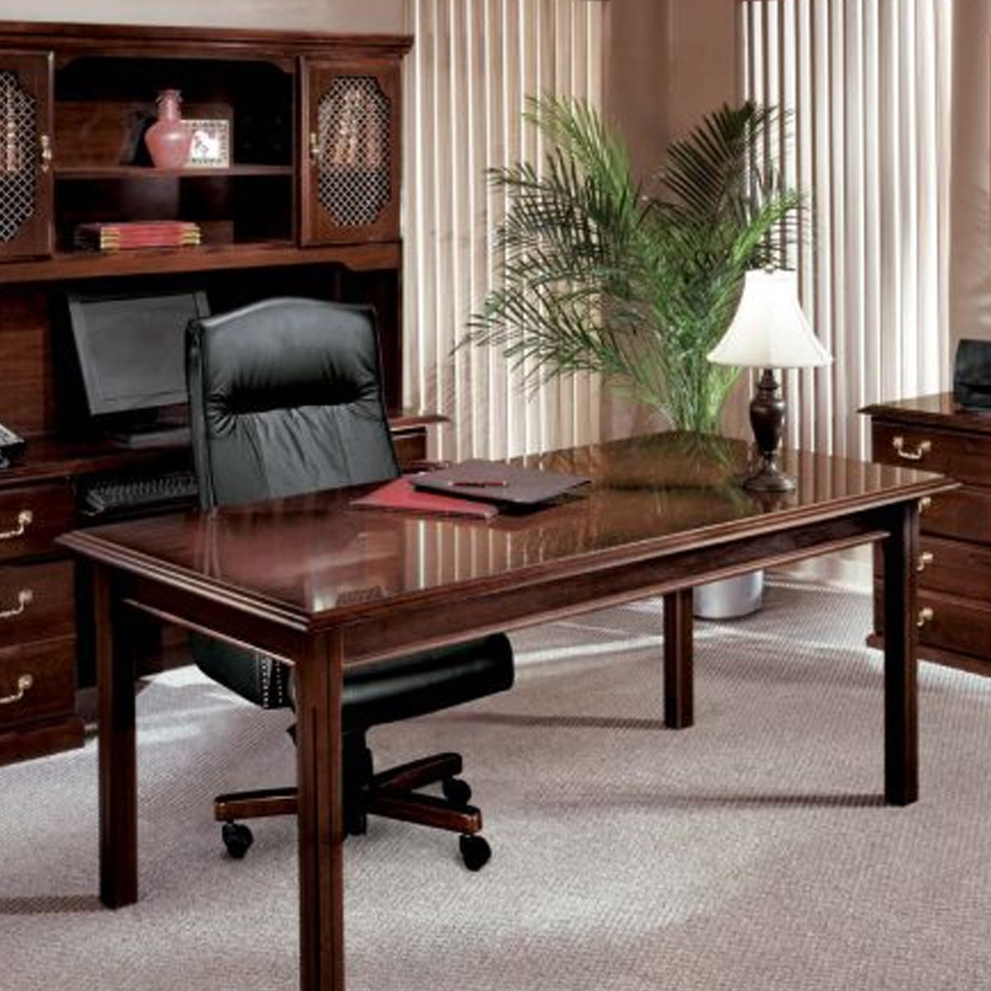 DMI Office Furniture Works Governors Series | upscale office furniture, dark wood office furniture set, home office suite furniture set