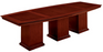 12-Ft Boat Shaped Conference Table | Del Mar Collection