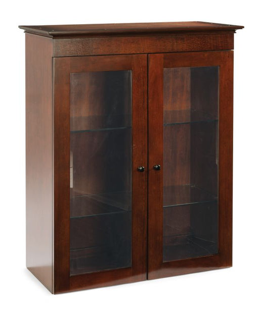 Wooden Bookcase with Doors for LF | Del Mar Collection