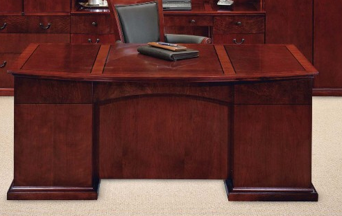 Executive Bow Front Desk | Del Mar Collection