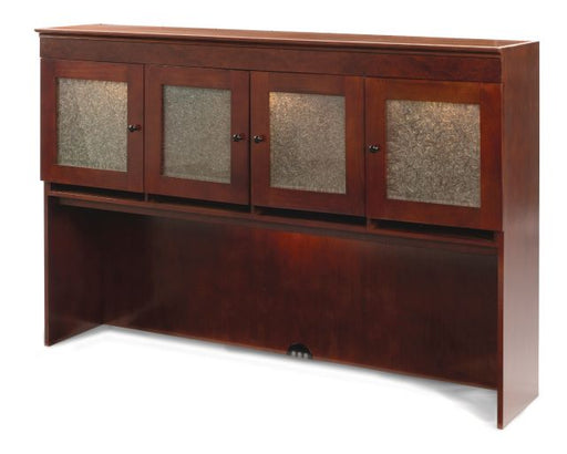WDN OVERHEAD STG/CRACKLED GLAS - Delmar Series | DMI Office Furniture Works - home office desk set, full office furniture set, commercial office furniture sales, commerical office desk furniture