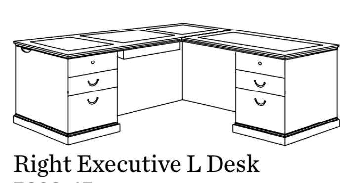 Executive L Desk | Del Mar Collection