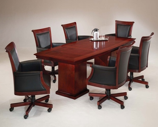 10-Ft Boat Shaped Conference Table | Del Mar Collection