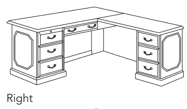 "Executive L Desk 72""W x 78""D 